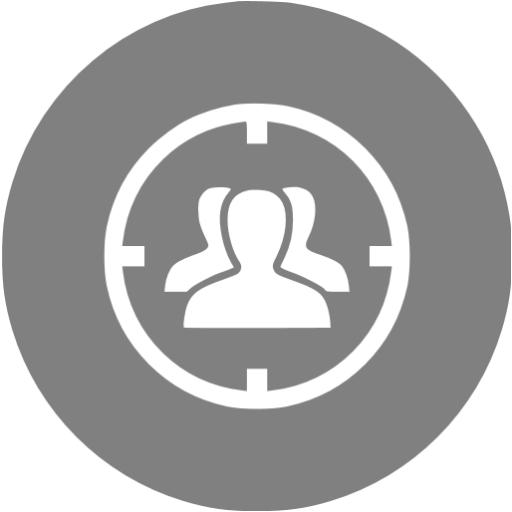 Gray Target Audience Icon