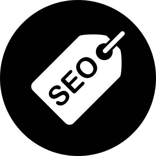 Seo Tag In Black Circle Icons Free Download
