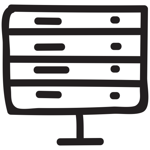 Server, Setting, Mail Icon