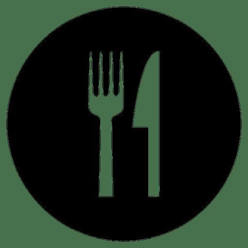 Cutlery Round Service Icon