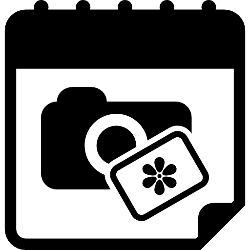 Photographic Session Date Day On Calendar