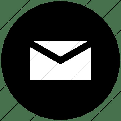 Mail Black Round Icon Transition Usta