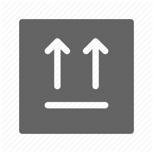 Box, Package, Side Up, Top Icon