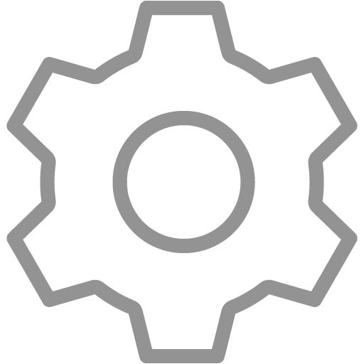 Gray Settings Icon