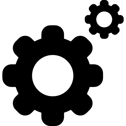Cogs On Wheels Interface Symbol For Settings Edition Button Icons