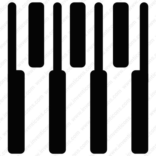 Download Seven Piano Keys,keyboard,keys,line,music,piano Icon