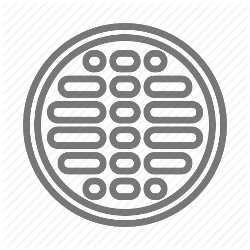 Cover, Drain, Manhole, Metal, Sewer Icon