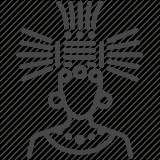 Ancient, Aztec, Leader, Maya, Mayan, Shaman, Tribe Icon