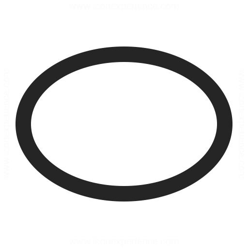 Shape Ellipse Icon Iconexperience