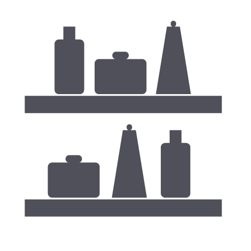 Showcase, Shelf, Products, Catalog Icon