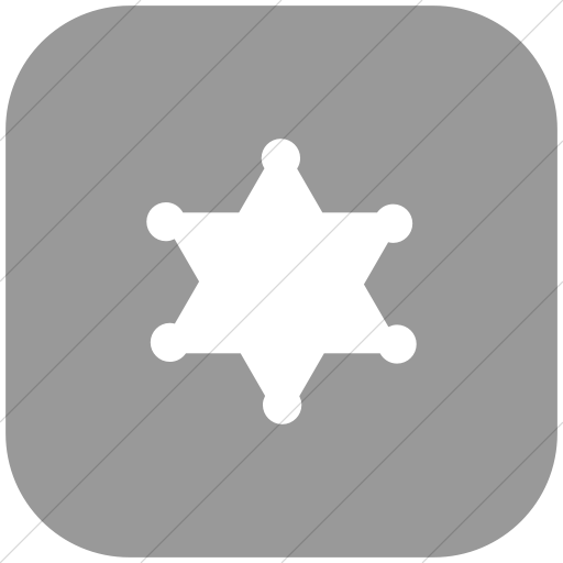 Flat Rounded Square White On Light Gray Foundation