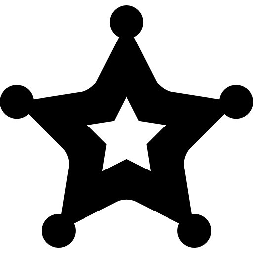 Police Badge, Sheriff, Security, Ranger, Signs, Symbol Icon