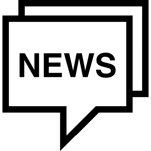 News In A Speech Bubble Outline Icons Free Download