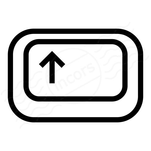 Iconexperience I Collection Keyboard Key Shift Icon