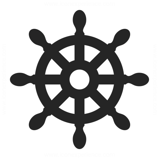 Ships Wheel Icon Iconexperience