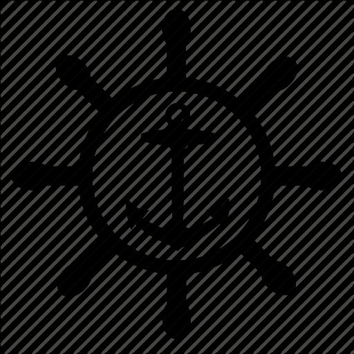 Anchor, Boat, Control, Sailor, Ship, Wheel Icon