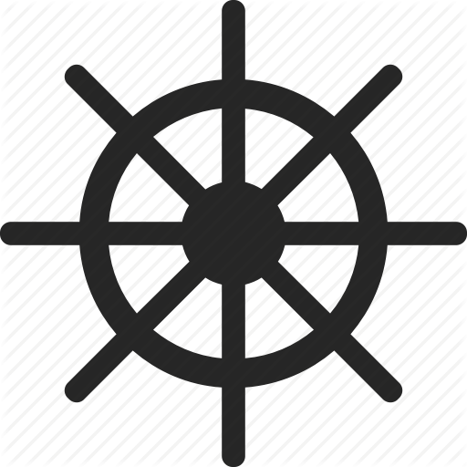 Ships Wheel, Steering, Steering Wheel, Wheel Icon
