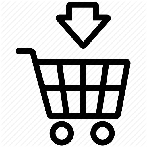 Arrow, Buy, Cart, Completed, Down, Sell, Shopping, Shopping Cart Icon