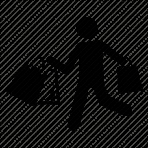 Man Carrying Shopping Bags, Man With Shopping Bags, Shopping