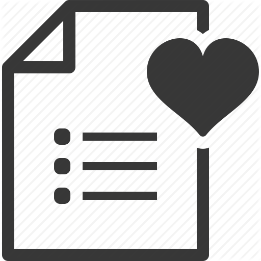 Favorite, Shopping List, Wish List Icon