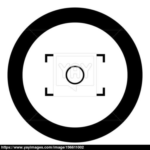 Camera Focus Icon Black Color In Circle Vector
