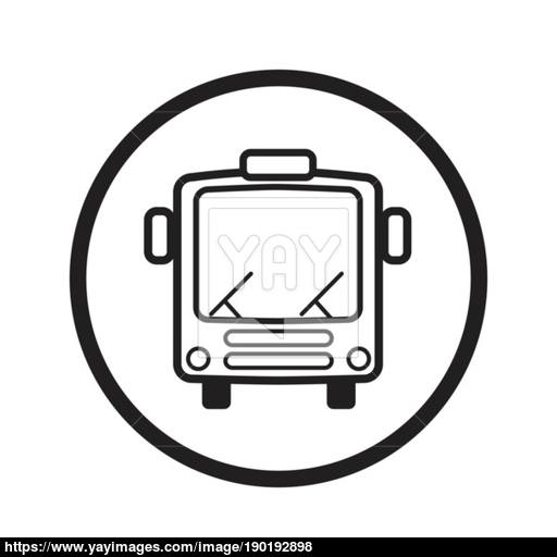 Linear Bus Icon