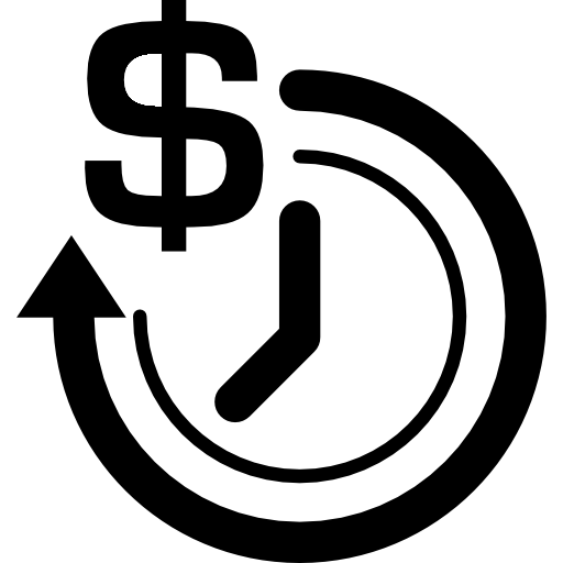 Clock With Dollar Sign