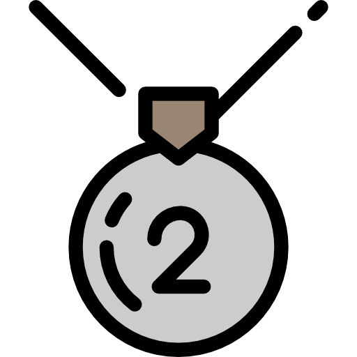 Second, Prize, Silver Medal, Sports, Sports And Competition, Medal