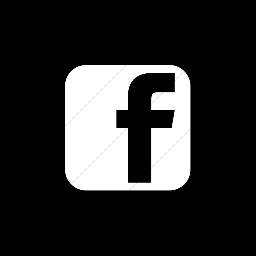 Flat Circle White On Black Social Media Facebook Square