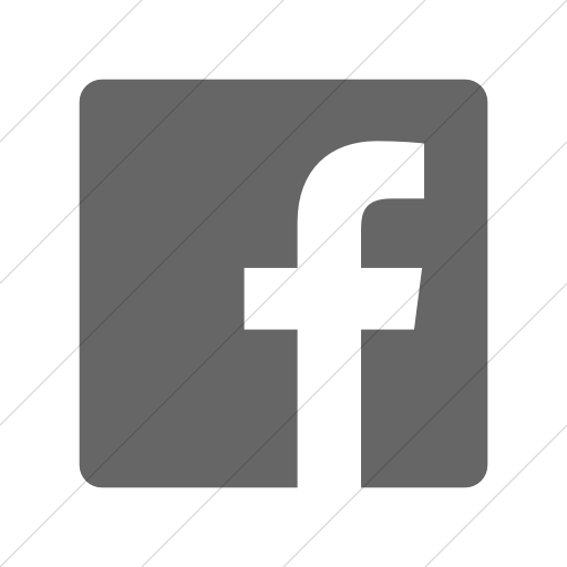 Simple Gray Foundation Social Facebook Icon