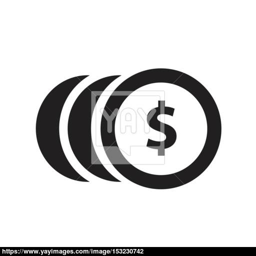 Coins With Dollar Sign Simple Icon On White Background Vector