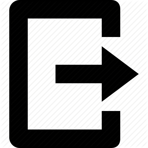 Escape, Exit, Logout, Raw, Simple Icon
