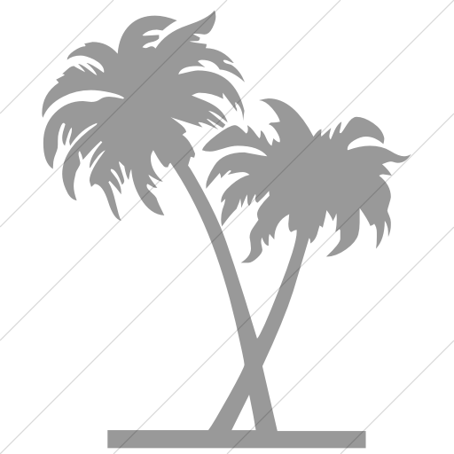 Simple Light Gray Classica Palm Trees Icon