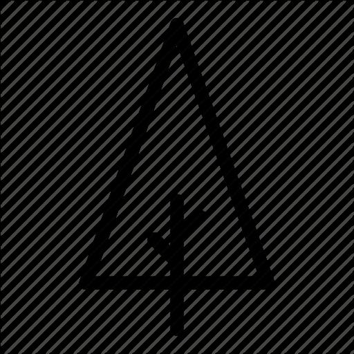 Branches, Tree, Triangle Icon