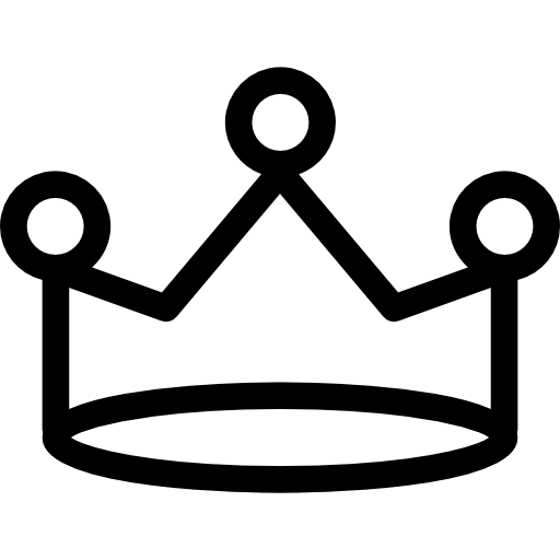 Royal Crown With Simplicity Icons Free Download