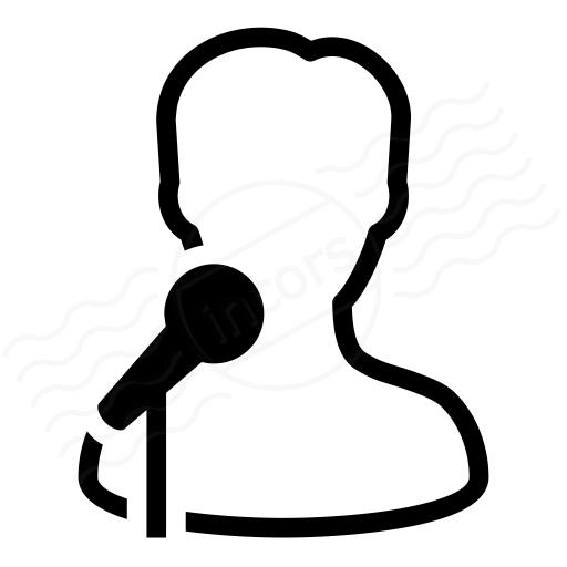 Man Singing Plain Clipart