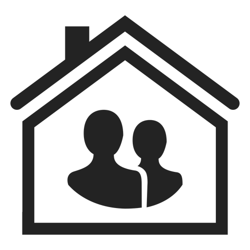 Two Person In A Home Icon
