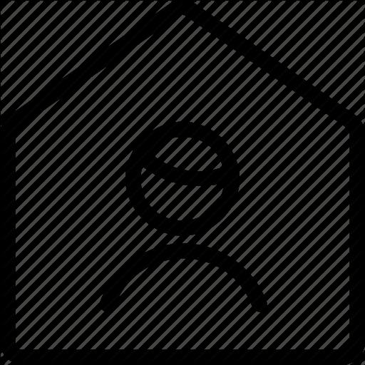 Geometric, Home, House, Human, Man, Person, Single, User Icon
