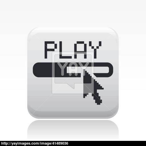 Vector Illustration Of Single Player Progress Icon Vector
