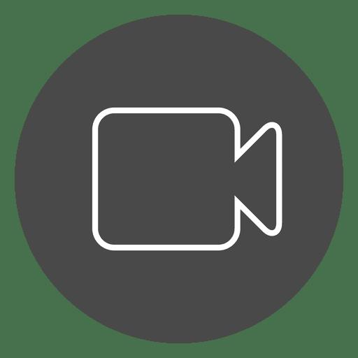 Camera On Button Circle Icon