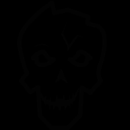 Download Skull,skeleton,halloween,dead Icon Inventicons