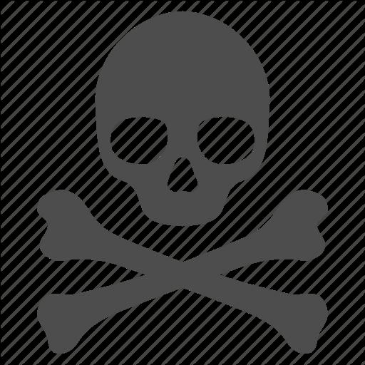 Crossbones, Danger, Death, Head, Skeleton, Skull, Toxic Icon
