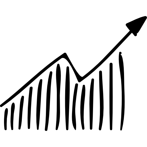 Business Ascending Graphic Sketch Icon Social Media Hand Drawn