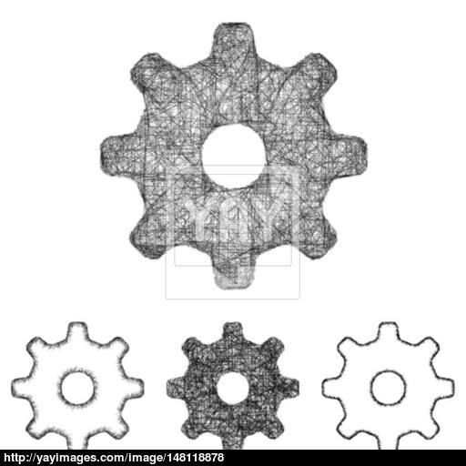 Settings, Cogwheel Icon Set