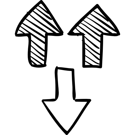 Three Arrows Sketch Icons Free Download