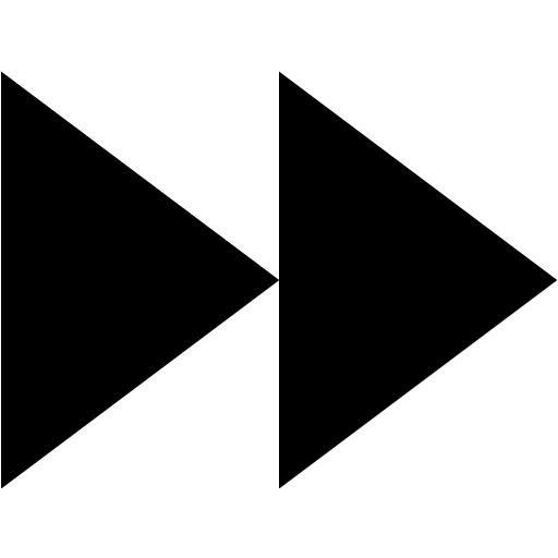 Black Media Skip Forward Icon