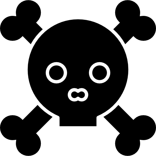 Skull With Bones Outline Icons Free Download