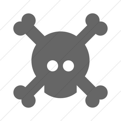 Simple Gray Foundation Skull Icon