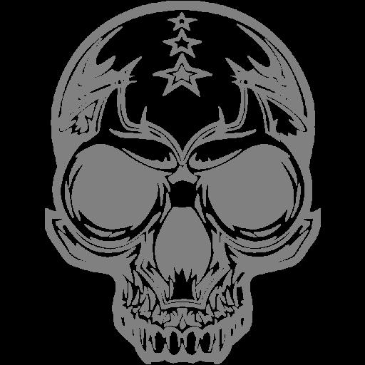 Gray Skull Icon