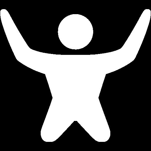 White Skydiving Icon